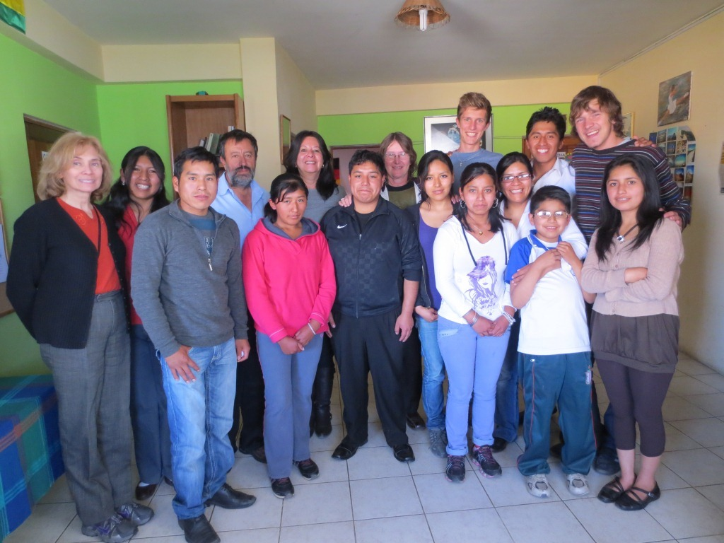 Big Visit by Sr. Echalar the President of the Fundation Hermann with his sister, Leonor, from Brazil. It was an honour...