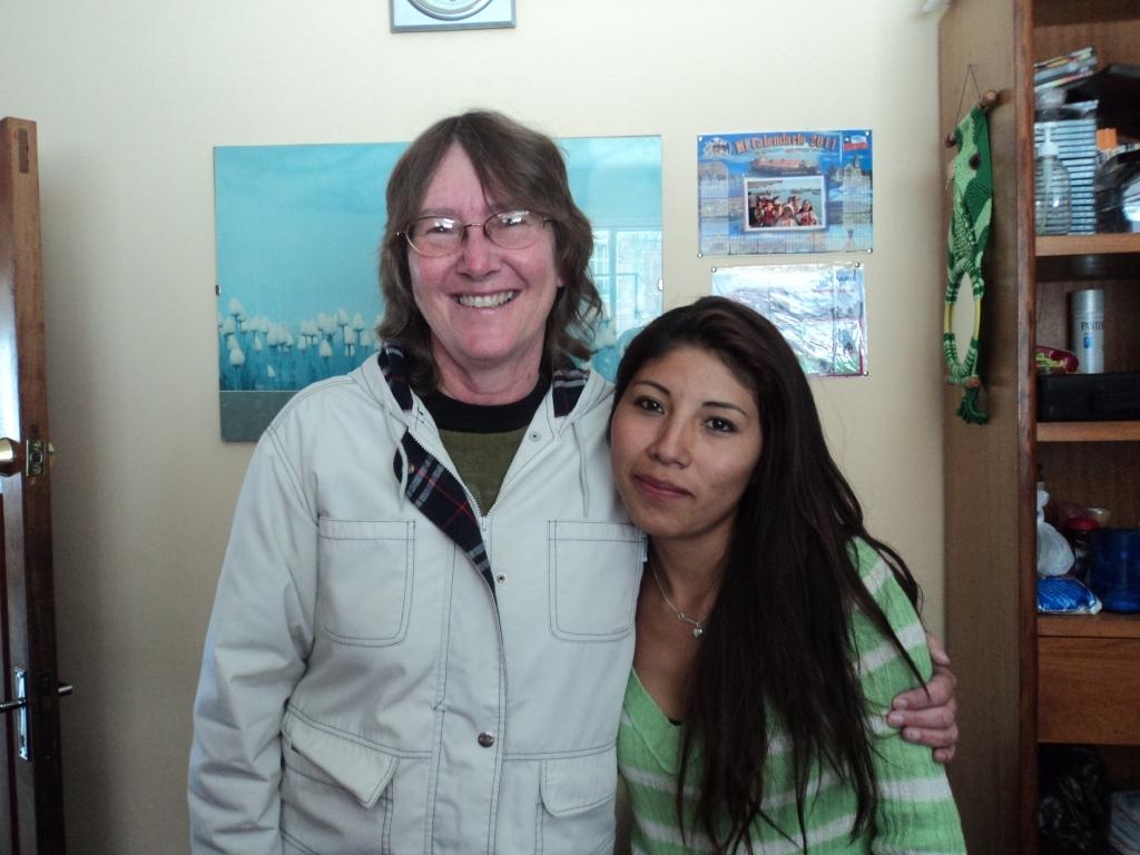 Yaquelin, Helping Hands Alumni, in Education Sciences. Will shortly finish her final project.
