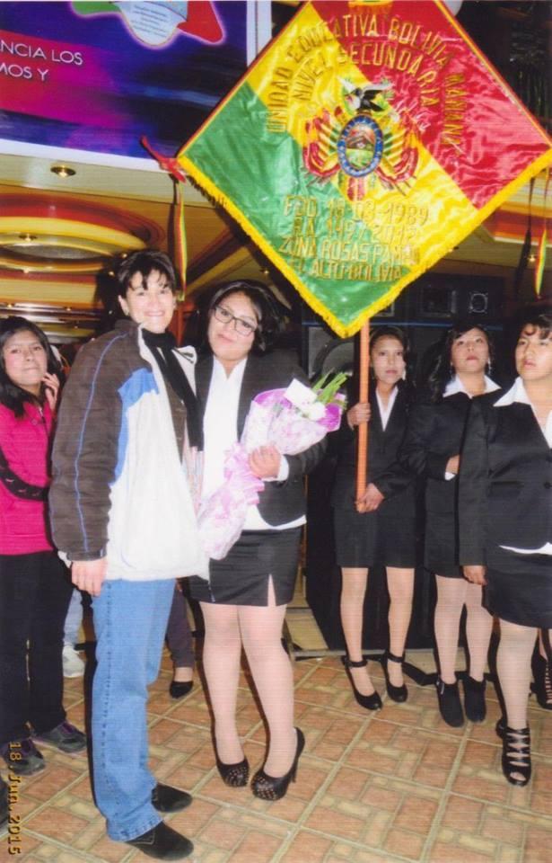 Danitza celebrated her pre-graduation in high school.