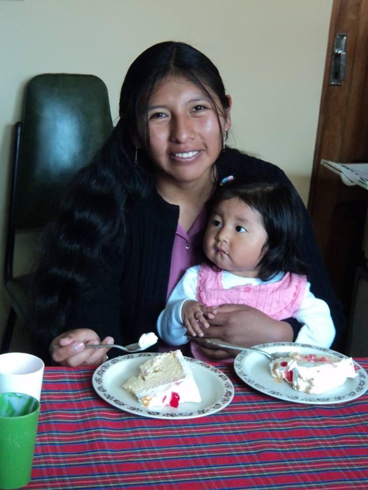 Ayelen at her first birthday.
