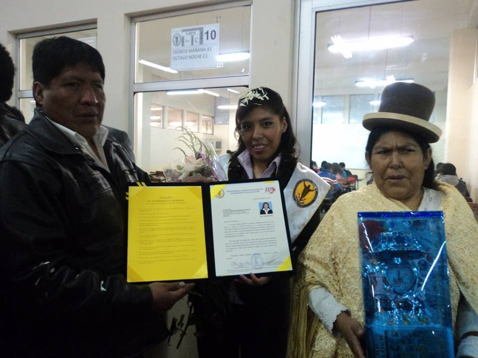 Congratulations, Miriam, on your graduation in Law.