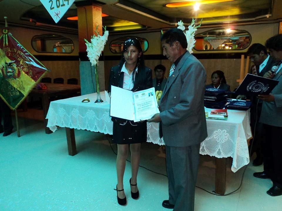 Maria Carolina at her presentation.