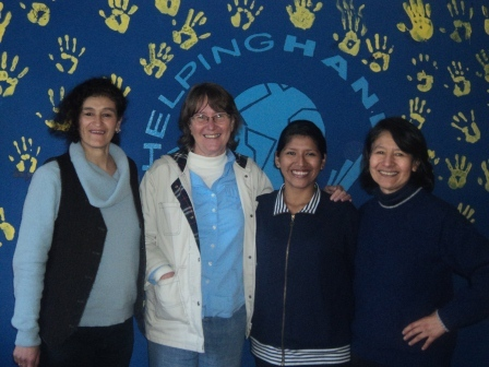 Jackie, Linda, Erika, Maria Eulogia. Congratulations to Erika who has finished her five years of nursing studies!!
