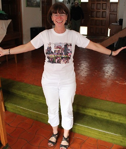 May in her Helping Hands t-shirt.