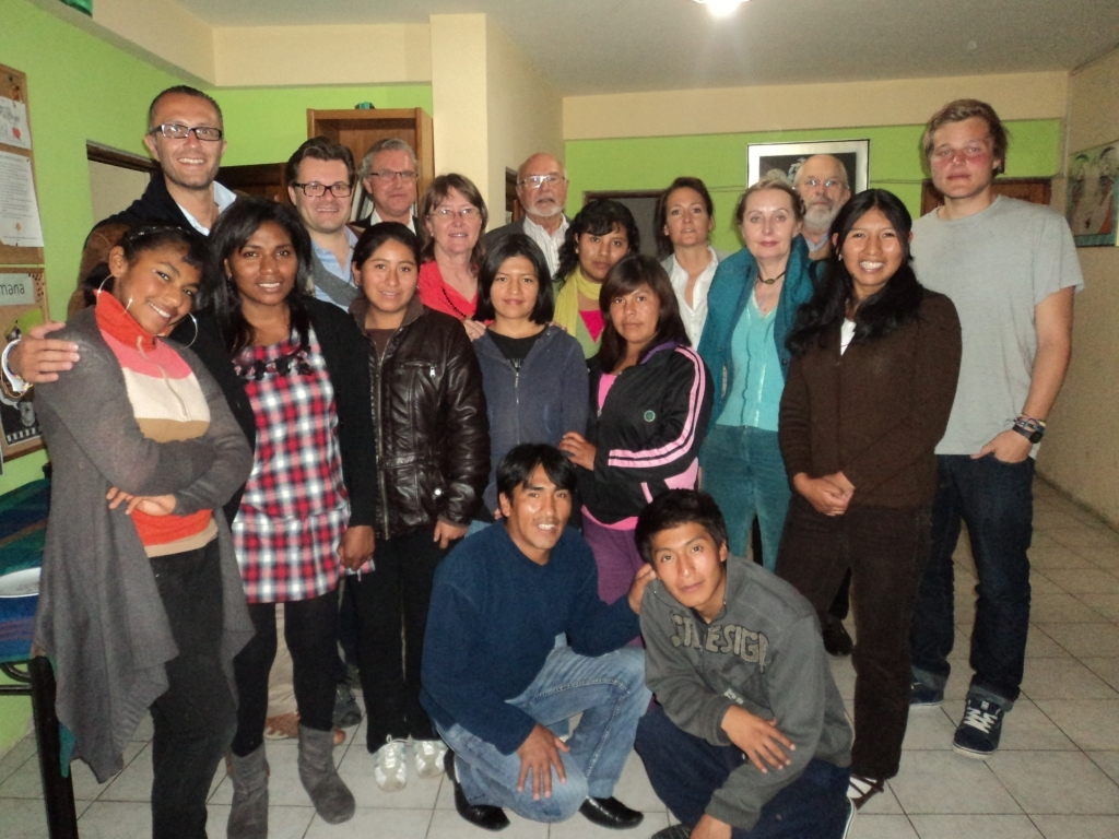 Members of the Fundacion Herrmann visited the office for tea time and met several of our students.