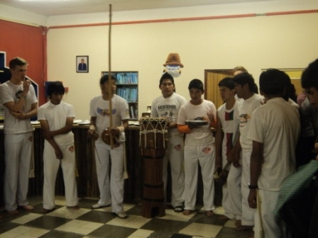 The Mendez boys in the Capoira Band.