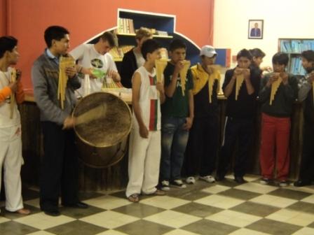 The Mendez boys in the Zampoña Band.