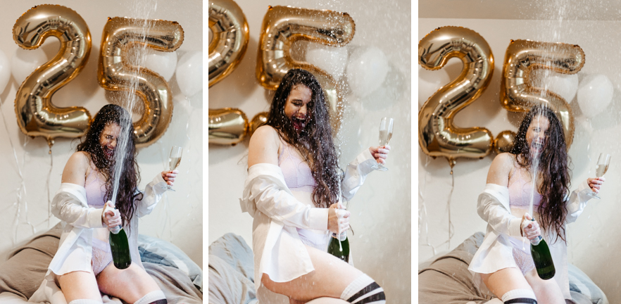 Champagne Poppin' 25th Birthday