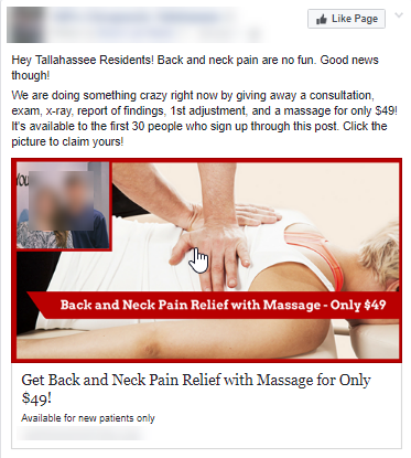 """This basic and """"ugly"""" campaign has produced thousands of new patients for our chiropractic clients across the country."""