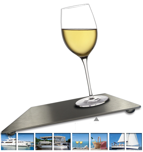 Anti-Spill Wine Glasses for boats, sailboats, pontoons, RVs, picnic sets