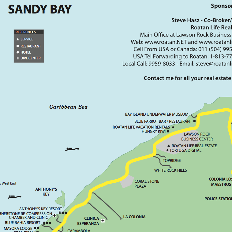 Sandy Bay Map