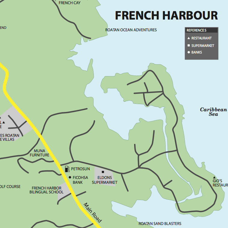 French Harbour Map