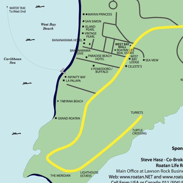 Roatan Maps