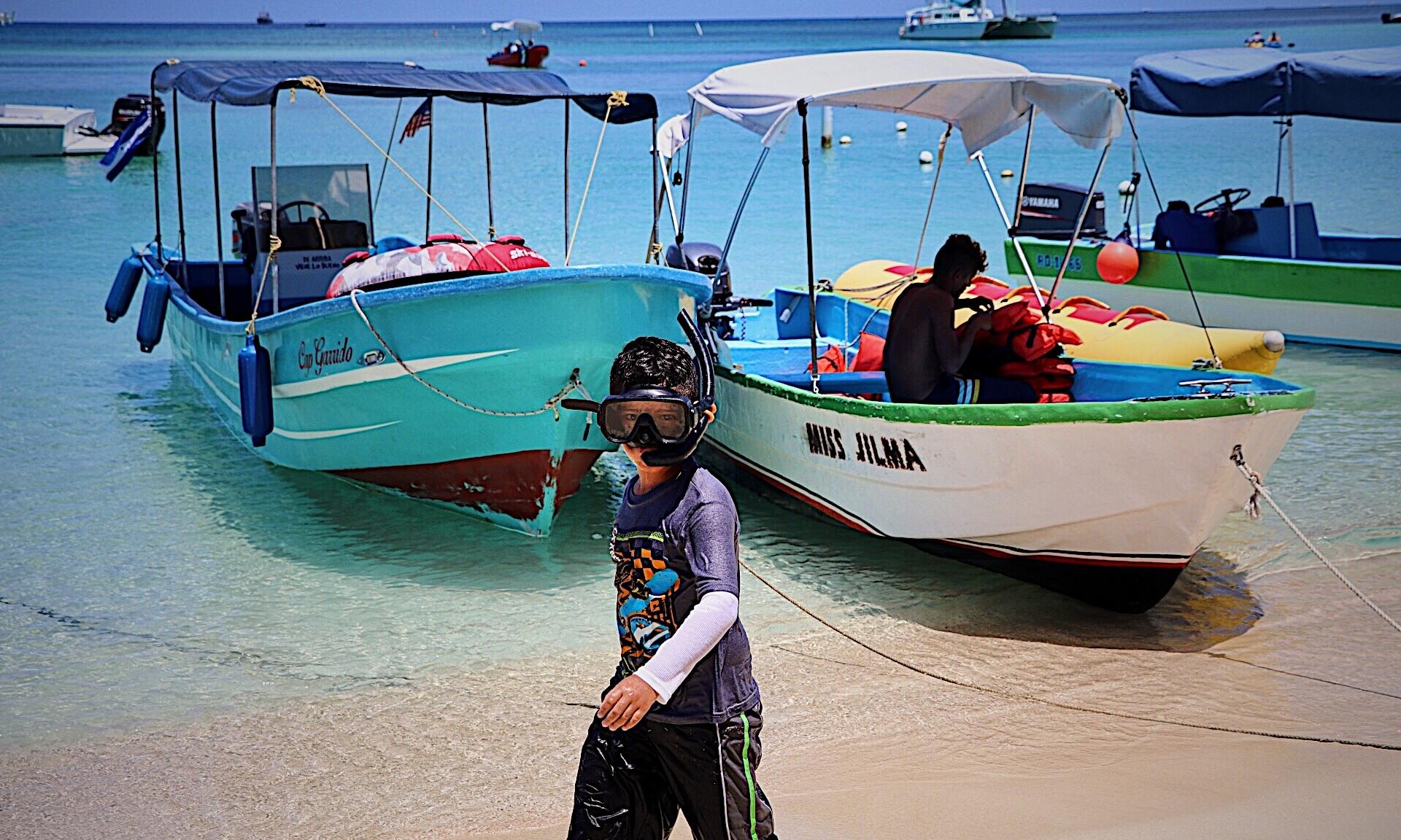 Snorkeling in West Bay, Roatan