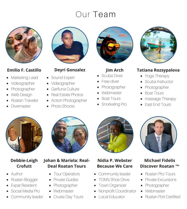Roatan Bureau Team Members
