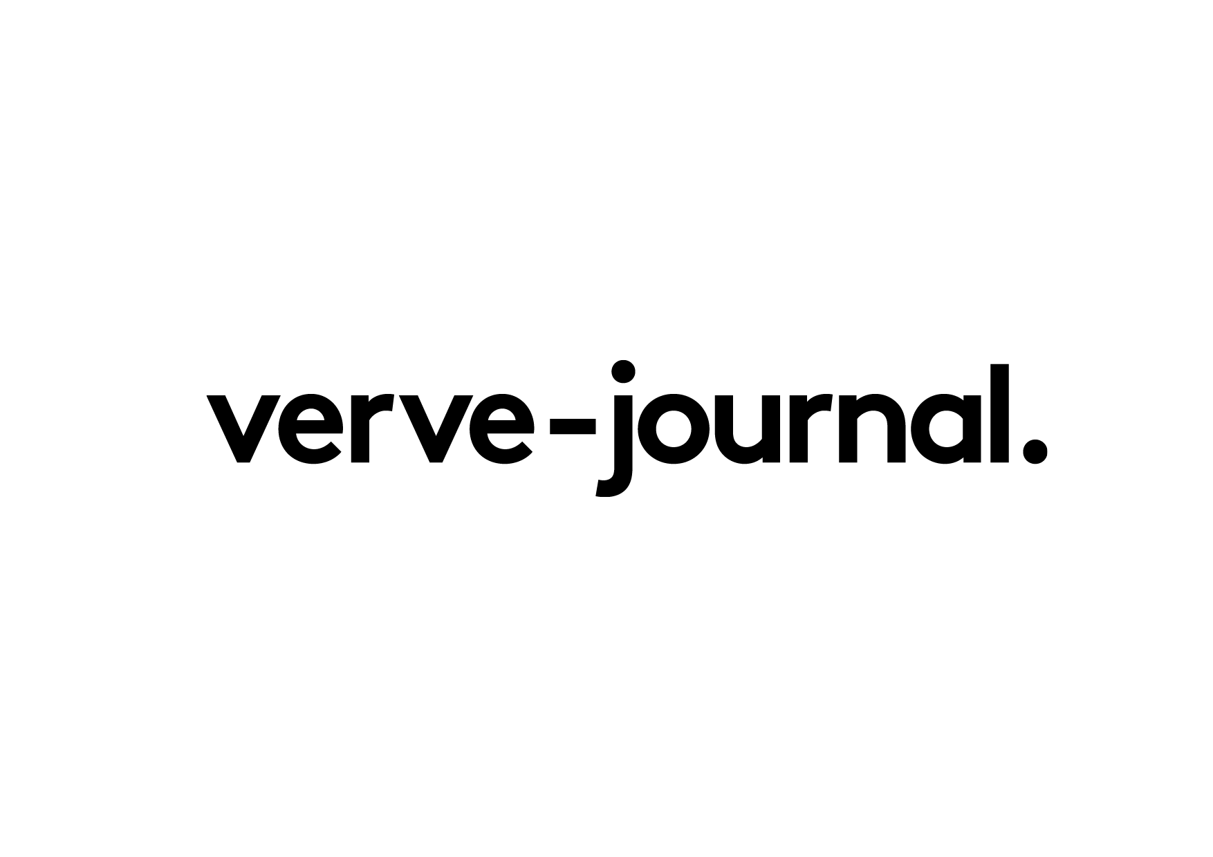 Verve-journal, logotype   2016   Verve-journal is an online magazine specialized in art, music and design. The journal is aiming to appeal a young audience seeking for a simple and friendly approach to cultural discoveries.