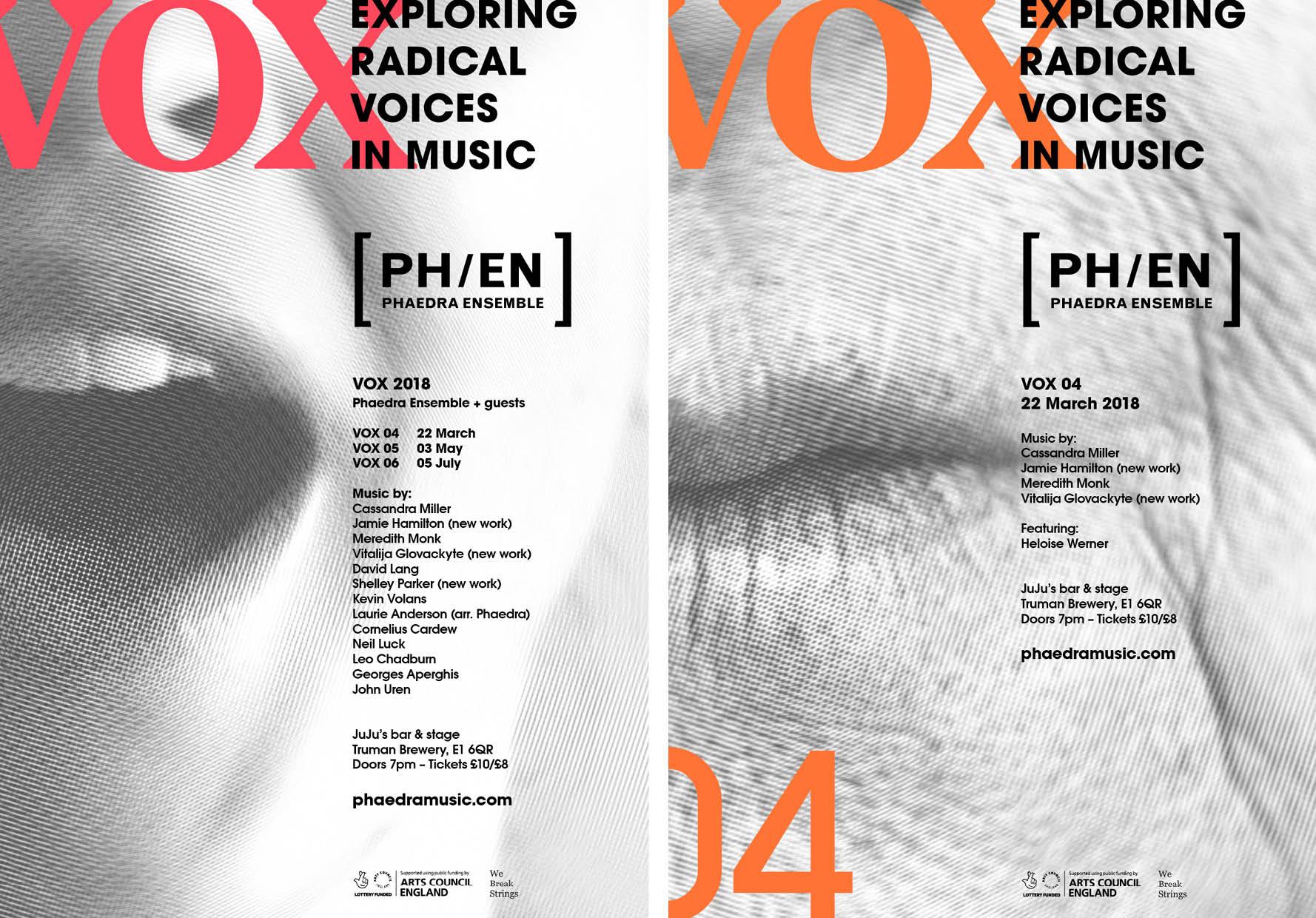 Phaedra Ensemble, Vox 2018