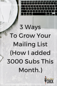 3 ways to grow your mailing list quickly!