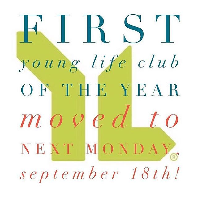 Hurricane Irma is messing up our plan for first club-- Everyone be safe out there! WE WILL SEE YOU ON SEPTEMBER 18th