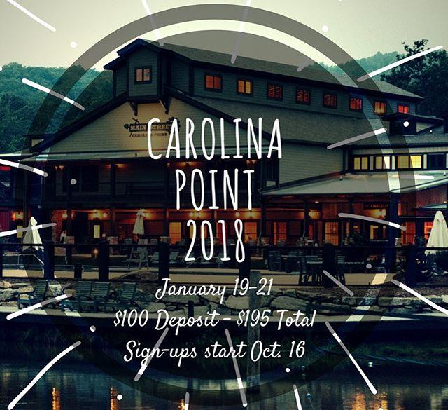 CAROLINA POINT//HERE WE COME!! Spots will go FAST! Sign ups open Monday after club! Who's coming??!! 🙋🏼🙋🏼🙋🏼🙋🏻♂️🙋🏻♂️🙋🏻♂️🙋🏻♂️