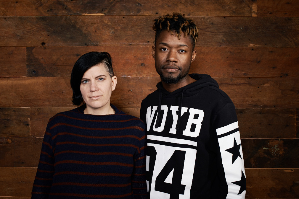 Director and co-writer Sara Jordenö and co-writer Twiggy Pucci Garcon at the 2016 Sundance Film Festival