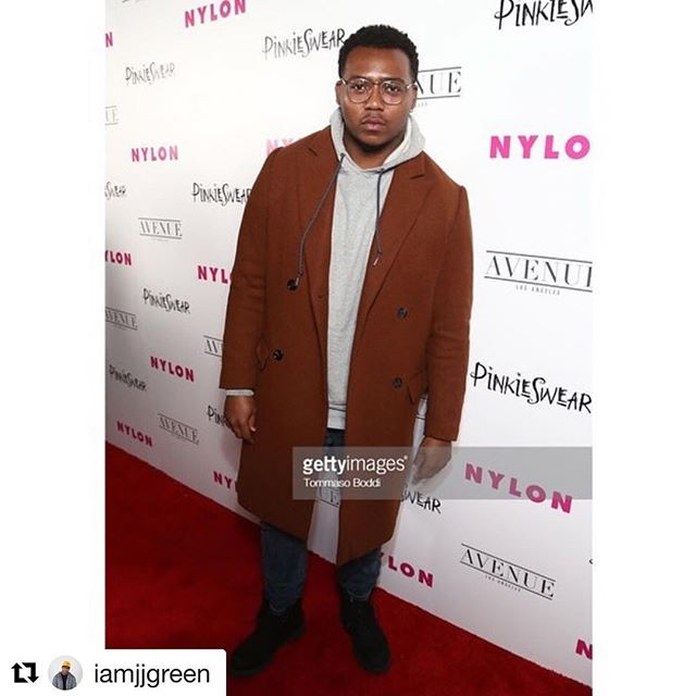 JJ Green looking fresh on the red carpet at @nylonmag event this week! 🌟🌟🌟 ... #Repost @iamjjgreen with @get_repost ・・・ HOLLYWOOD, CA - MAY 22: J.J. Green attends NYLON's Annual Young Hollywood Party at Avenue Los Angeles on May 22, 2018 in Hollywood, California.. (Photo by Tommaso Boddi/Getty Images for NYLON)