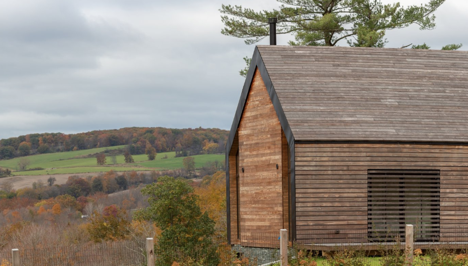 Silvernails House - Featured in Dwell - On 120 pristine acres in the Hudson Valley, founder and principal at New York City–based Amalgam Studio Ben Albury has crafted a pastoral home for a young family.