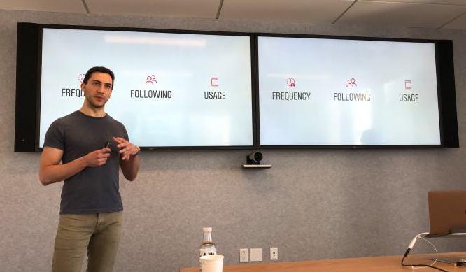 Instagram product lead Julian Gutman discusses the algorithm,  photo via TechCrunch