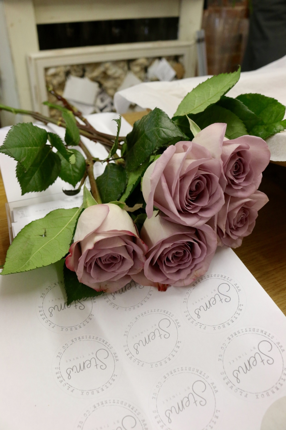 Flowers delivered in the post