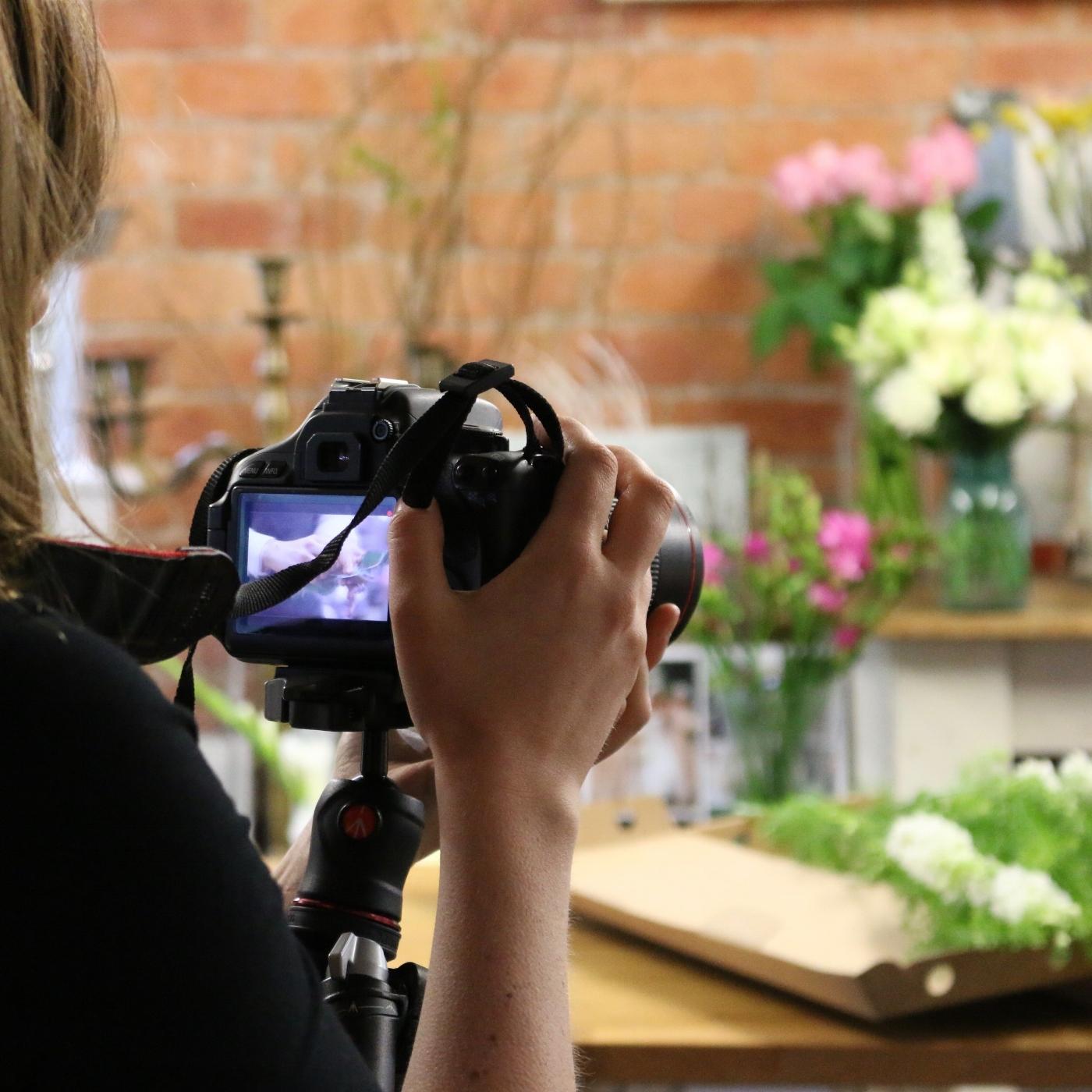 behind the scenes at Tineke flower studio