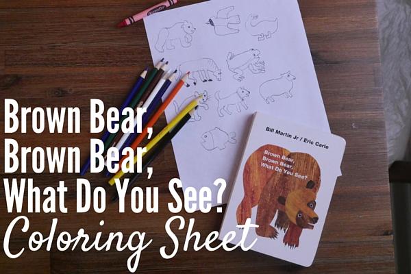 Brown Bear Coloring Sheet