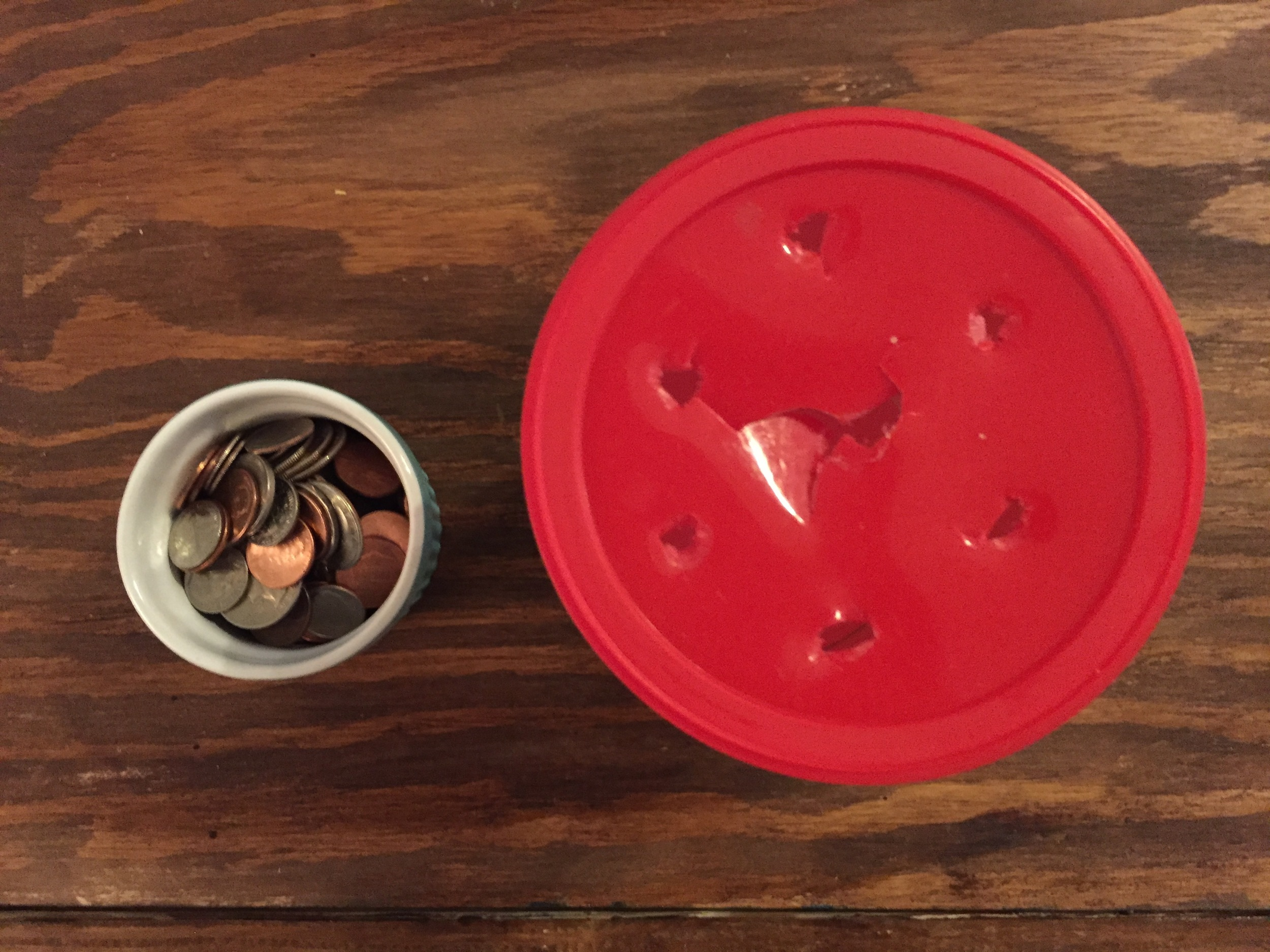 Coins in a coin bank