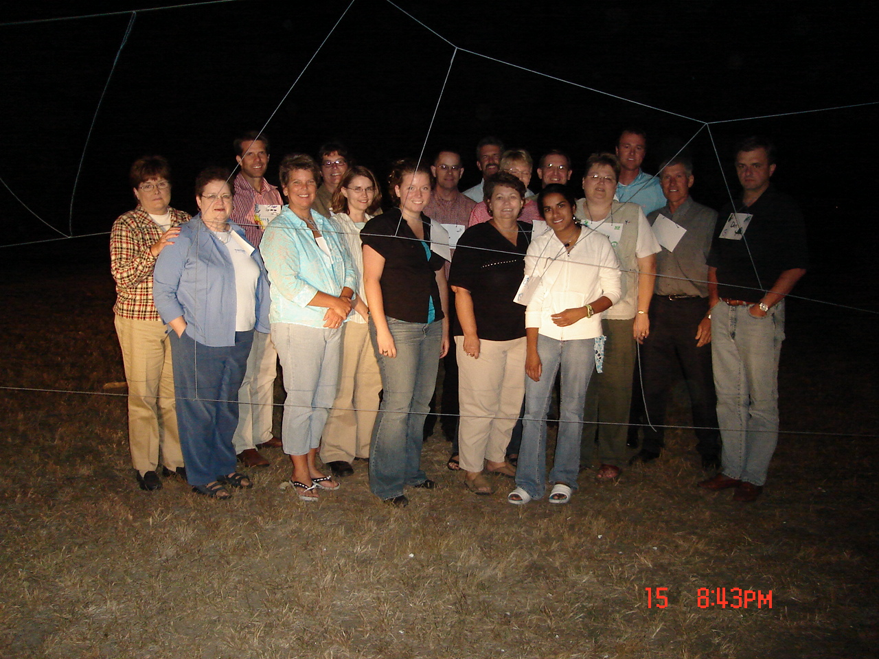 Sept'05-group by spider's web.jpg