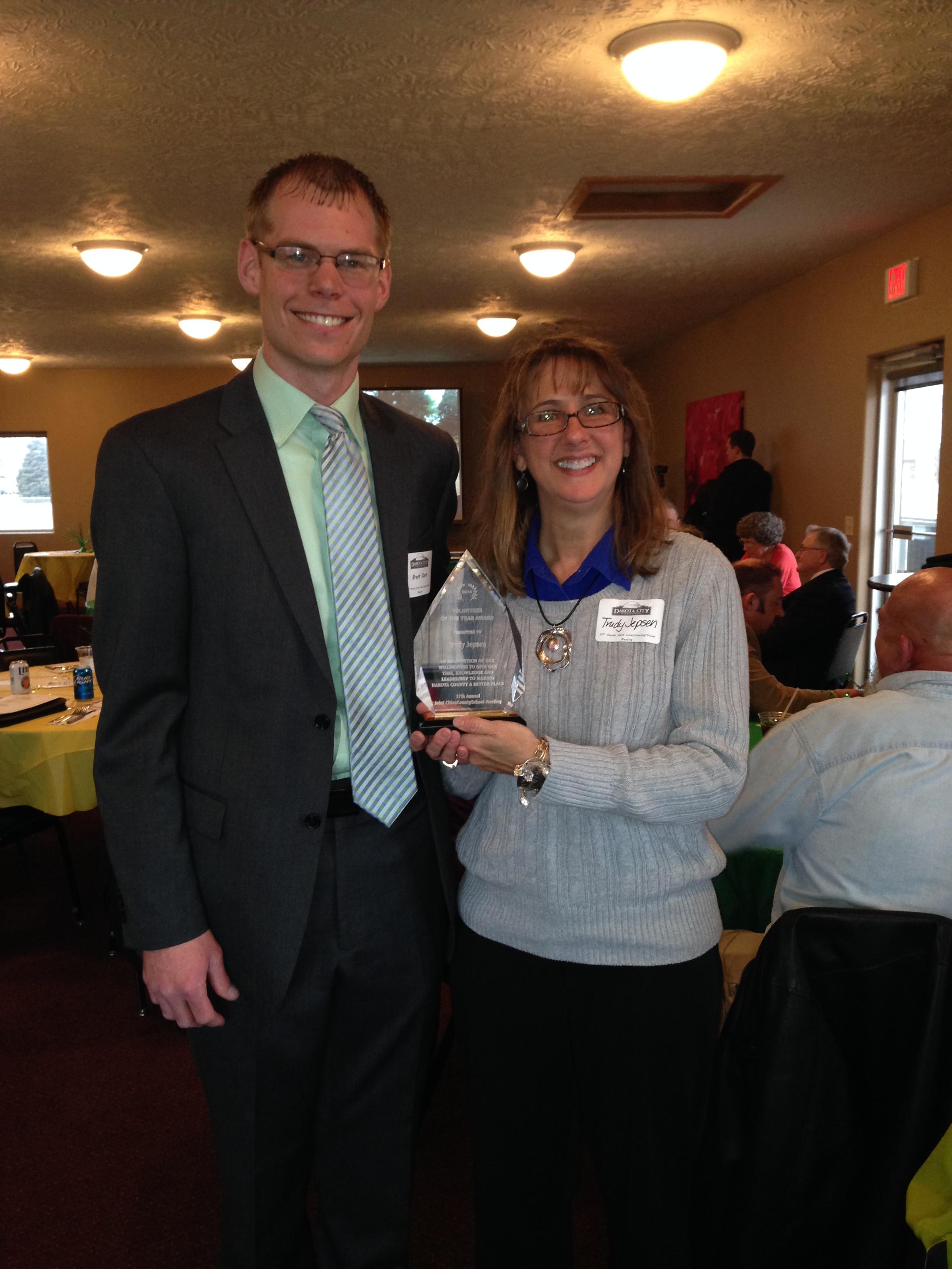 Trudy Jepsen - Volunteer of the Year by Dakota City.JPG