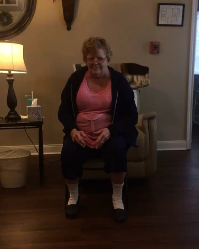 .......WATCH TILL THE END...... Ms.Joyce LOVES to dance- so much so that others that cannot walk get encouraged and want to GET UP too. 👀😱😱 haha! #BECAREFUL
