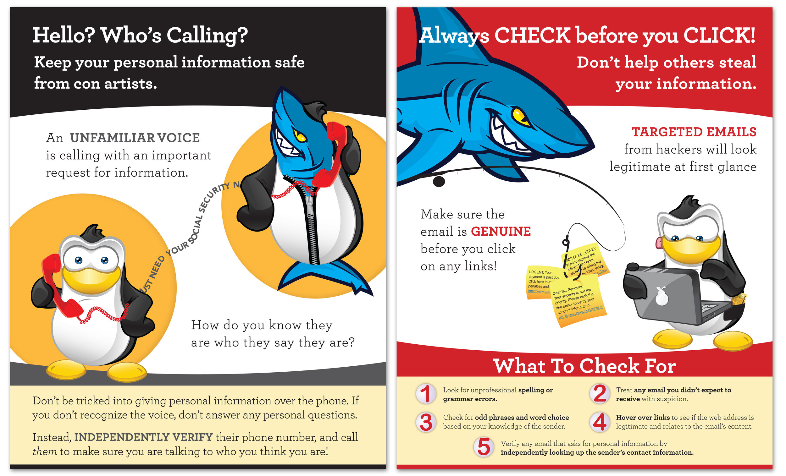 Tech Safety Campaign Posters | Editing & Design