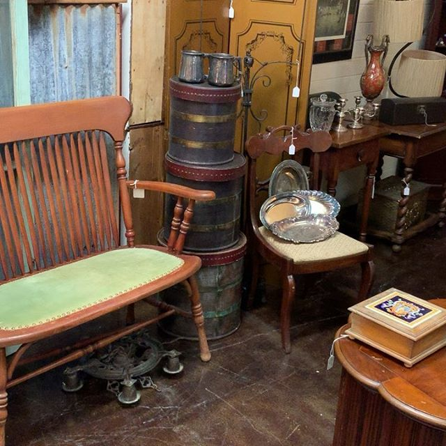 Our little antique shop at Red Queens Attic in Rosenberg is coming along! Come out and see us this Saturday for the annual wine stomp! #antiques #pickers #uniqueoddities #history #beauty