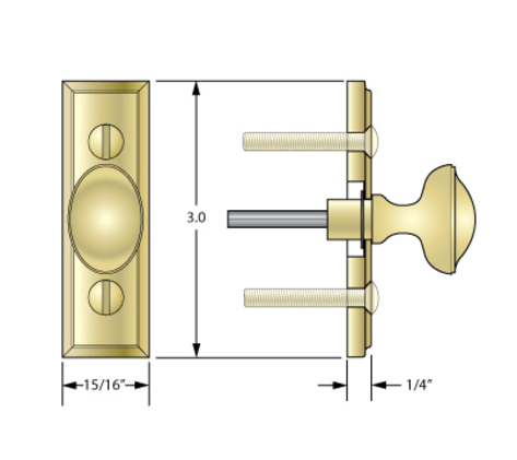 Narrow Escutcheons