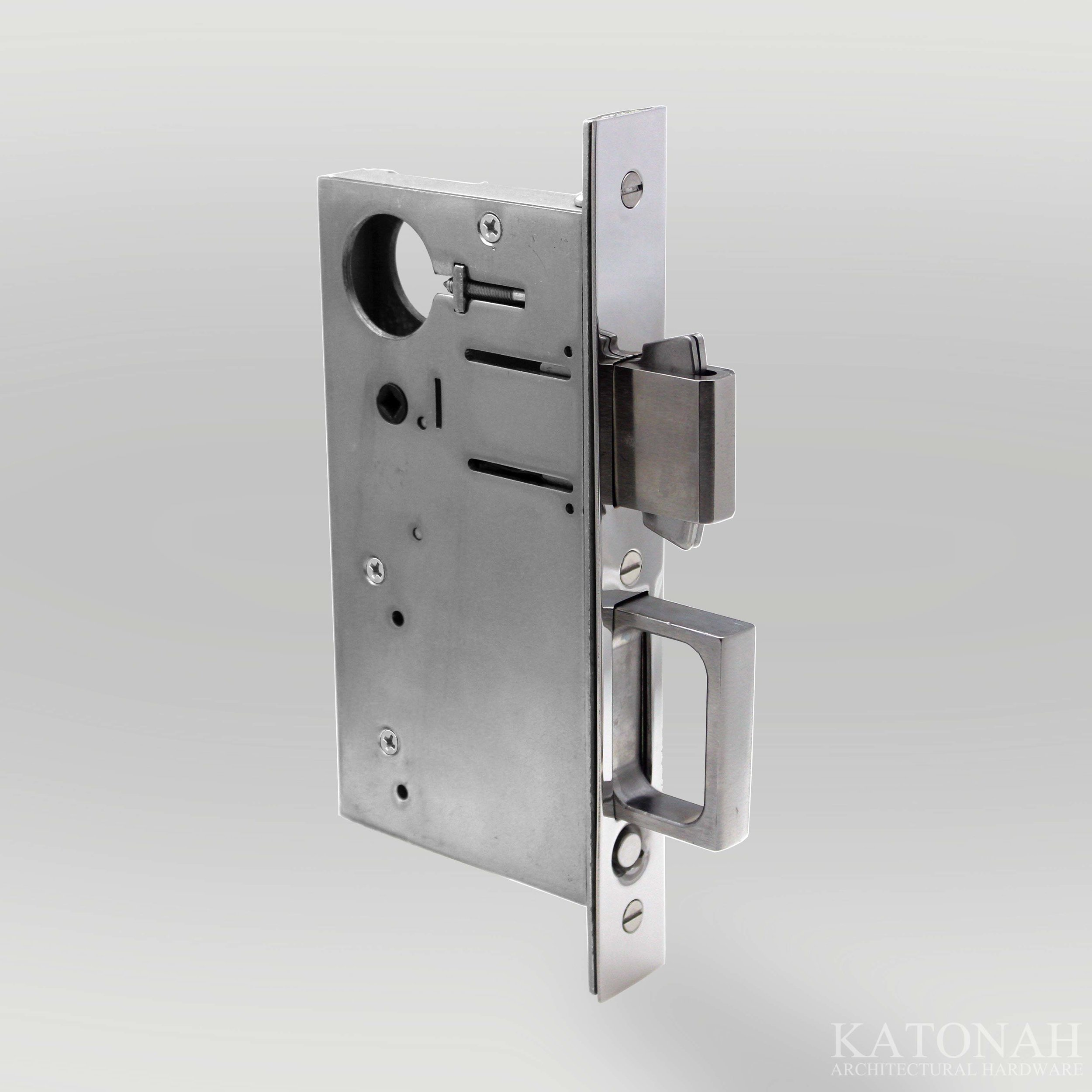 Combination Pocket Door Lock and Edge Pull