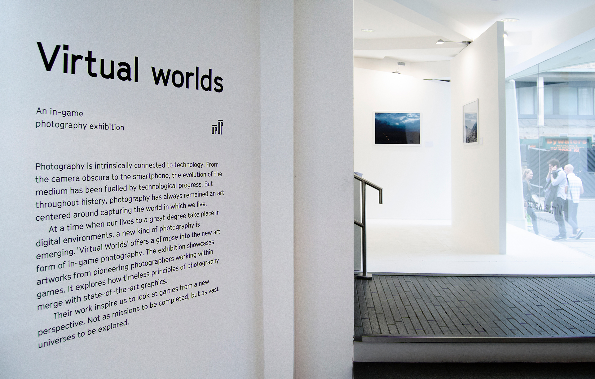 Exhibition at 'Virtual Worlds' for McCann London at the Up Up Gallery, London.