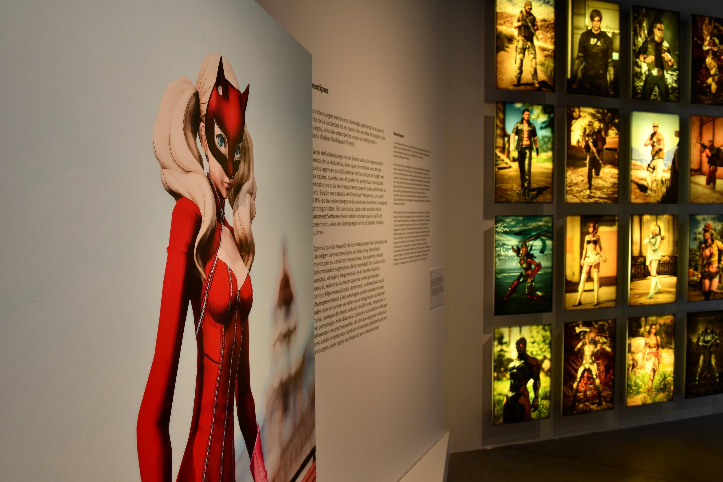 Exhibition section at 'Videojuegos. Los dos lados de la pantalla' for Eurídice Cabañes and Espacio Fundación Telefónica, Madrid.