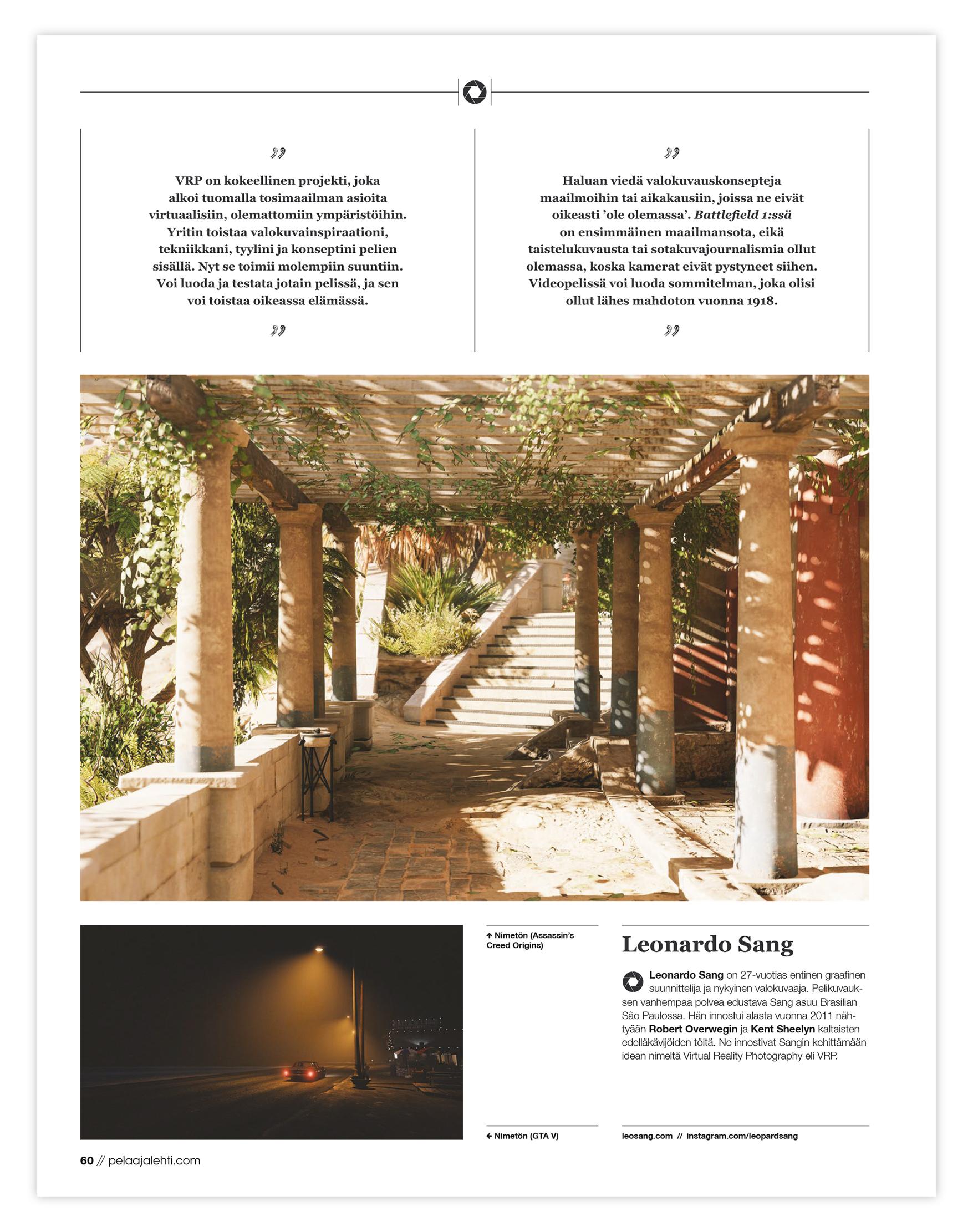 for Pelaaja Magazine