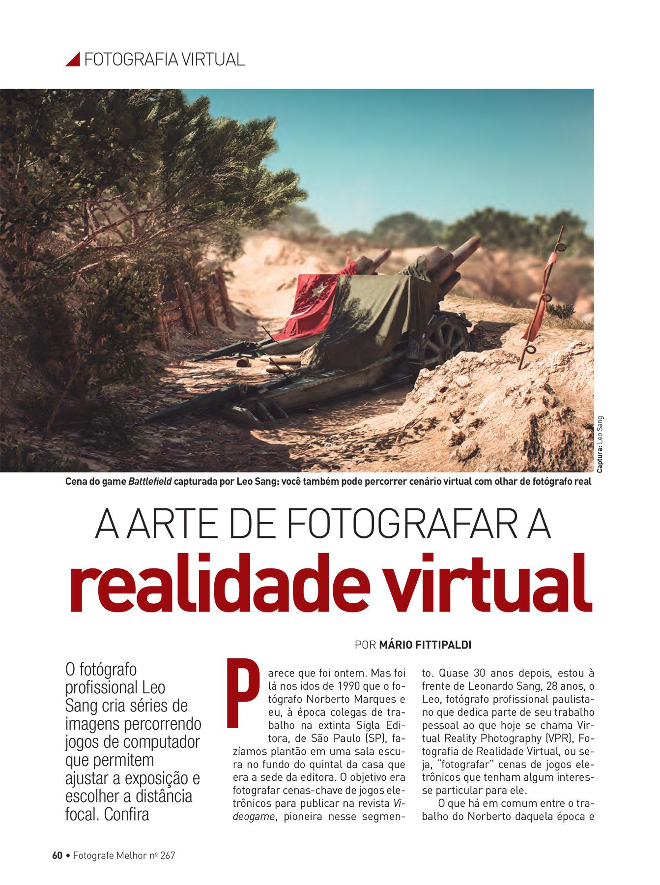 Interview for Fotografe Melhor magazine