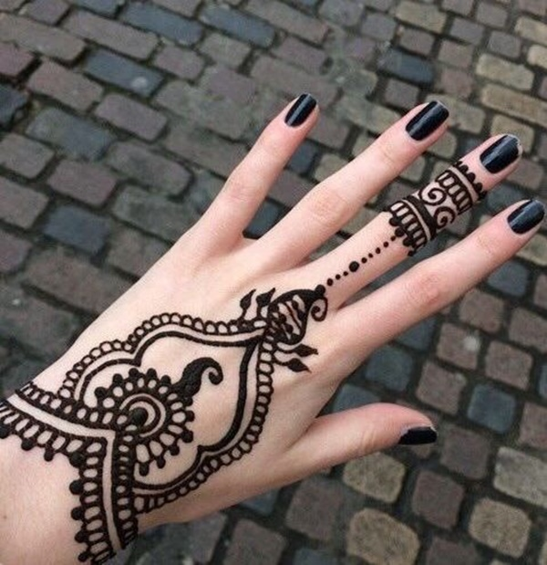 Henna before the paste has come off.jpg