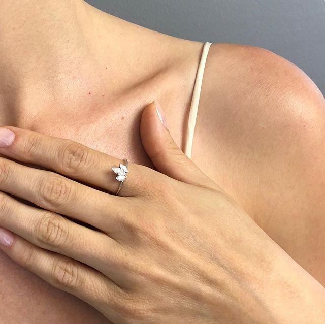 #diamond #lotus #flower #platinum #finejewelry