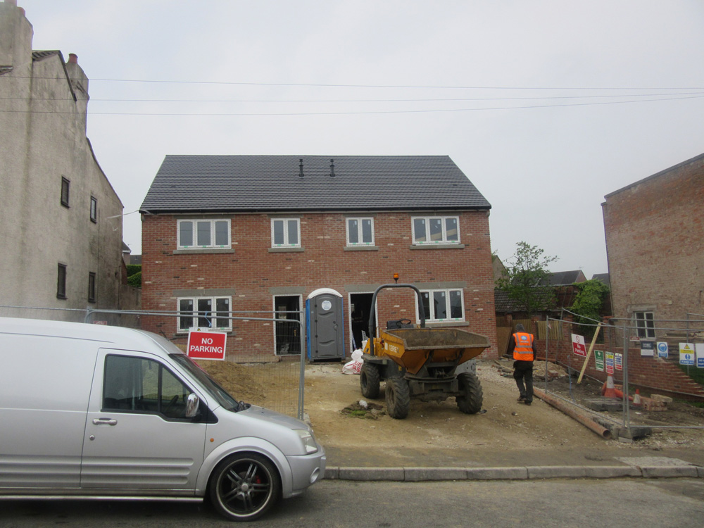 new build timber frame almost completed