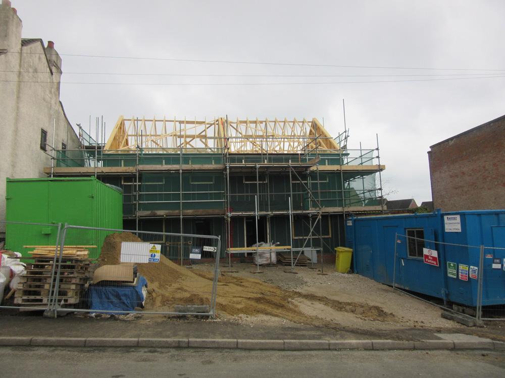 Timber frame progress photo