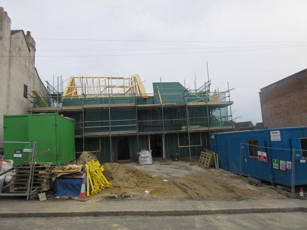timber roof progress