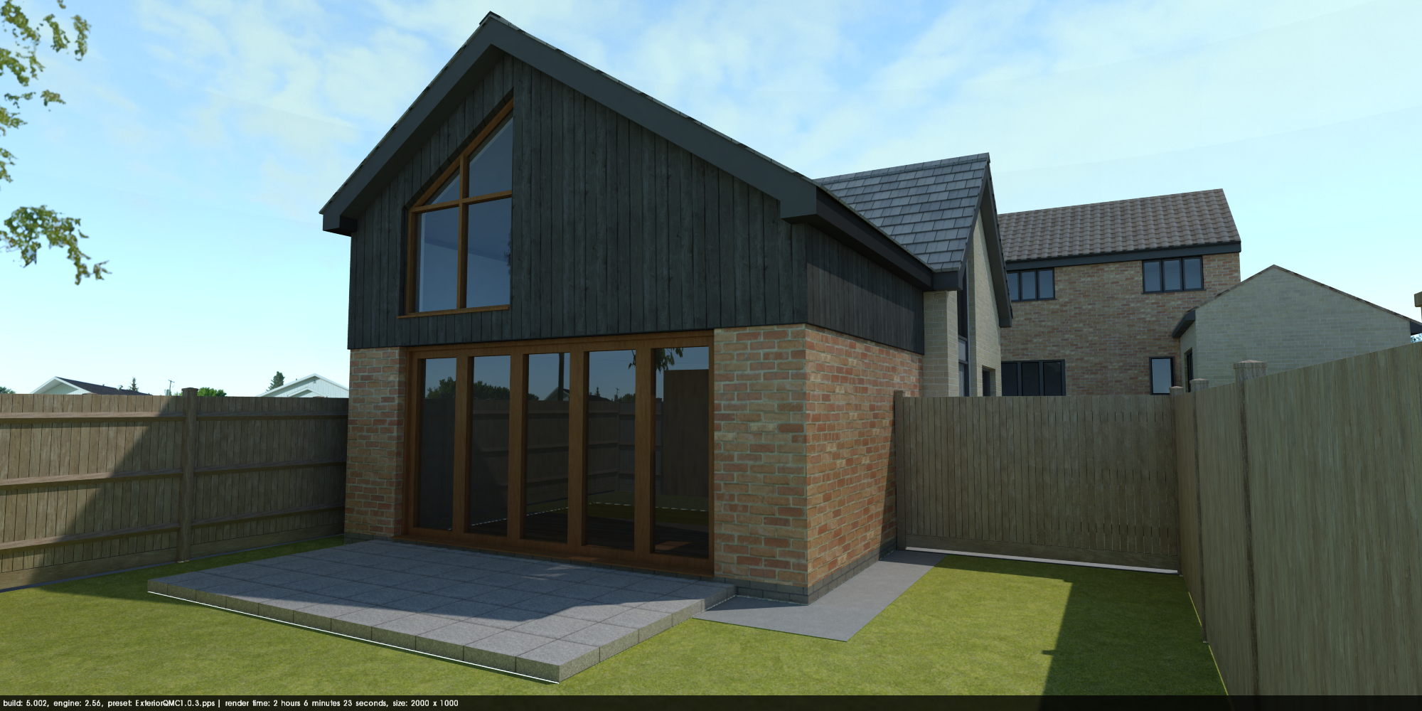 New build house, Hertfordshire