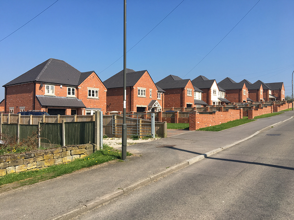 new build houses chesterfield
